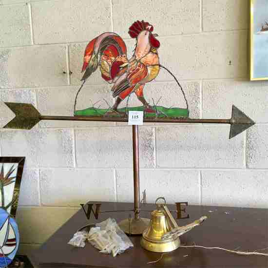 Weather Vane And Brass Decoratives