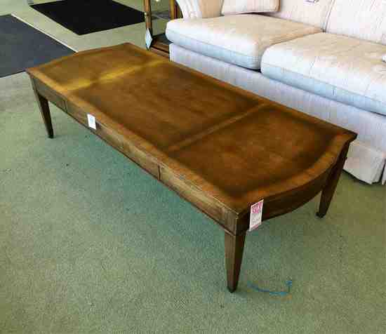 Coffee Table With Banded Top