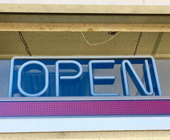 Neon Open Business Sign