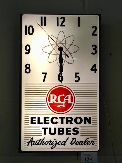 Vintage RCA Advertising Dealer Lighted Clock