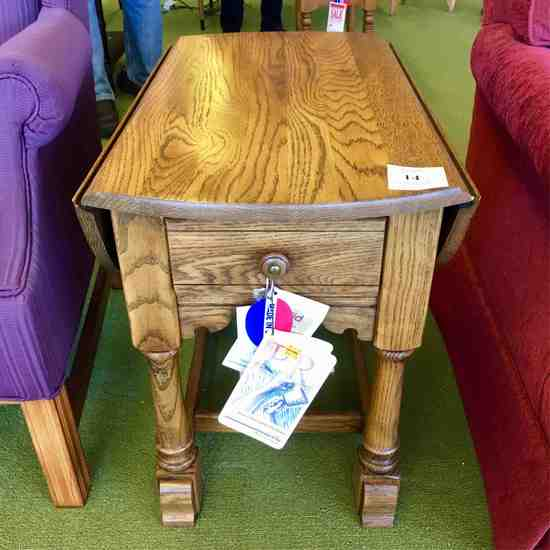 Two Oak End Tables