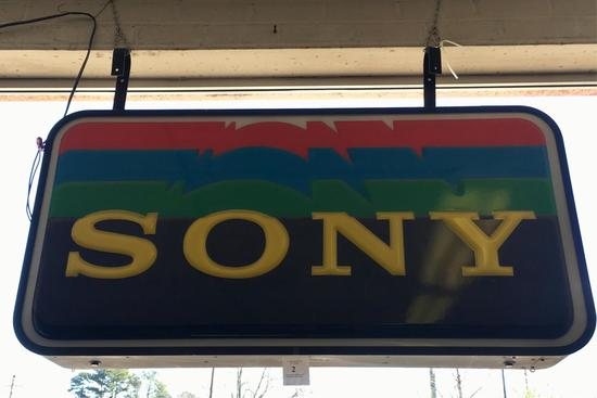 Large Sony Electric Sign