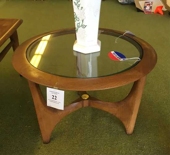 Mid-century Modern Table With Glass Top