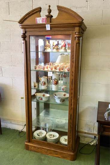 Oak Curio / Display Cabinet