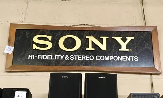 Sony Component Advertising Sign