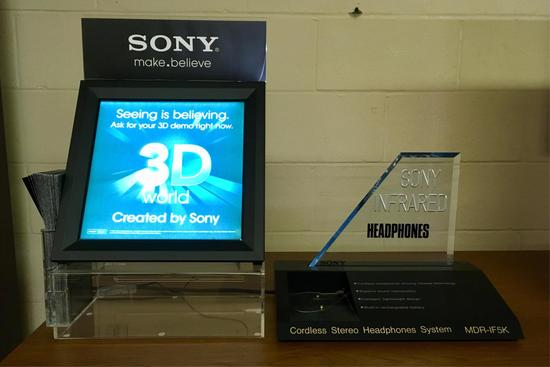 2 Sony Table Top Advertising Displays