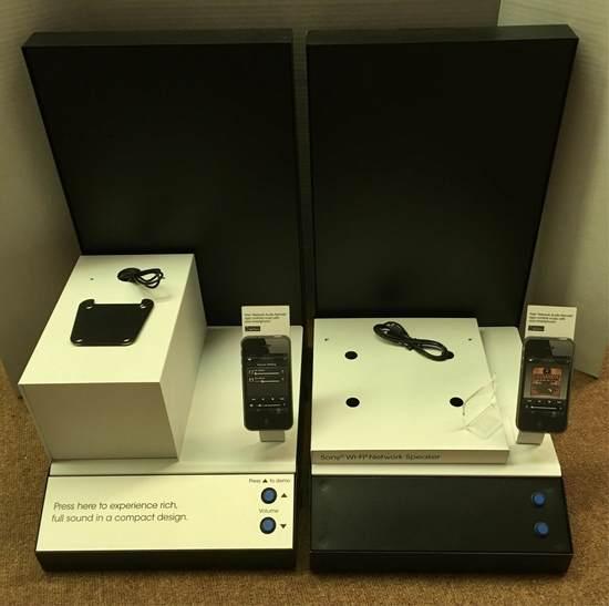 Sony Speakers Advertising Displays