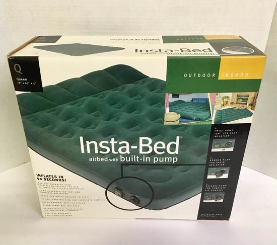 Insta-Bed Airbed with Built-In Pump