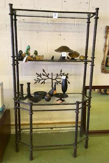 Metal Open Curio / Display Shelf