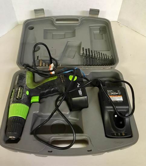 Kawasaki Cordless Drill & Battery in Case