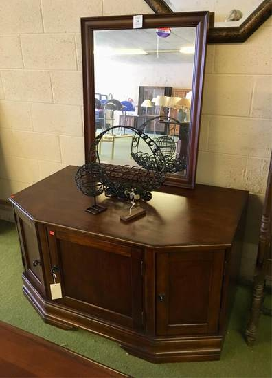 Television Stand And Wall Mirror