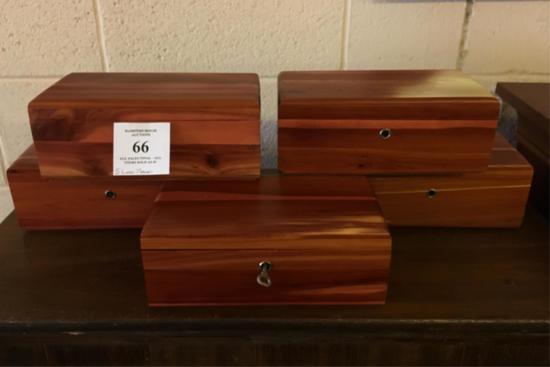 Five Lane Cedar Boxes