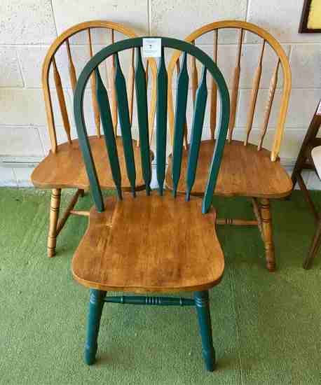 Three Windsor Style Chairs