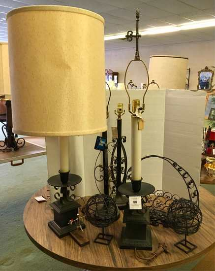Assorted Lamps And Decoratives