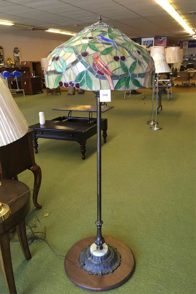 Floor Lamp With Stained Glass Shade