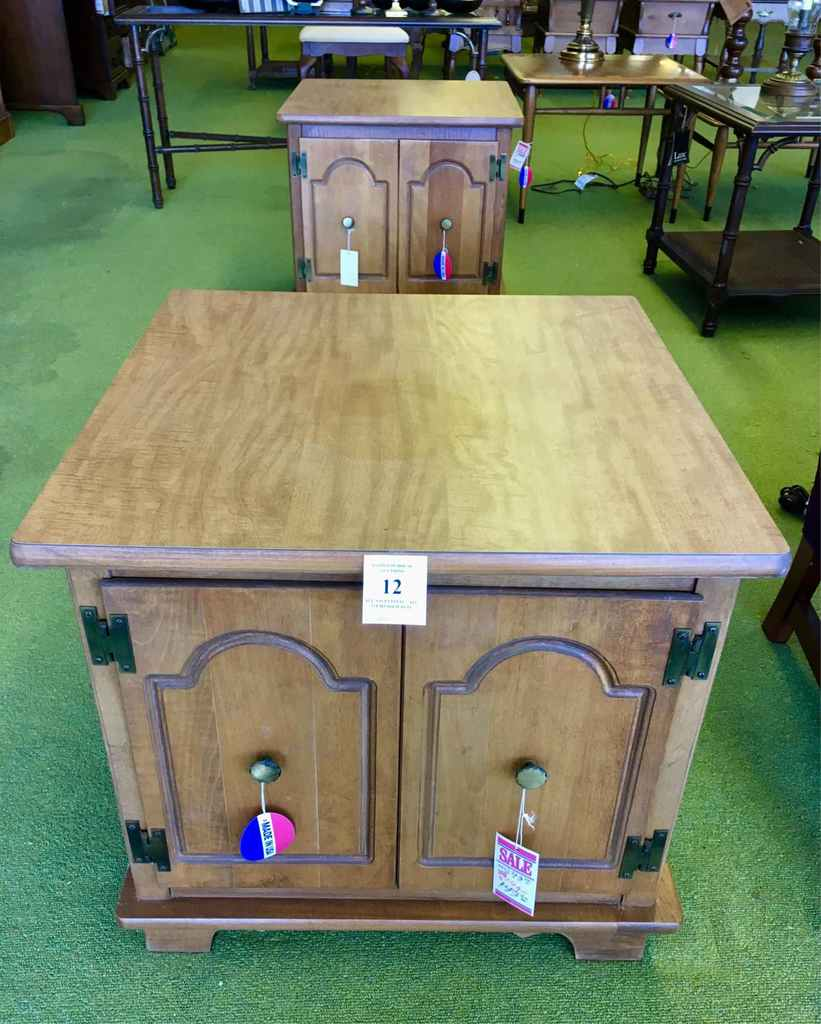 Two Maple End Tables