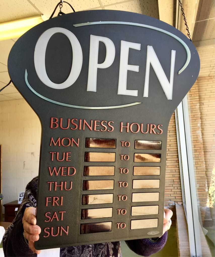 Electronic Open Business Sign