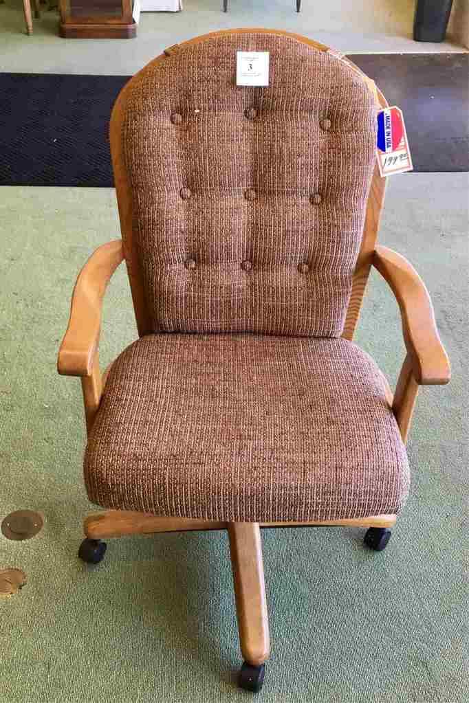 Oak Finish Desk Chair