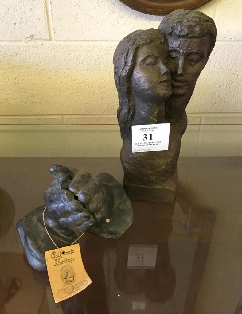 Two Ceramic Mid-century Sculptures