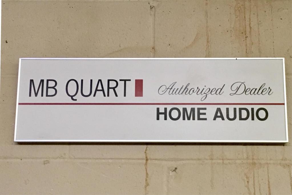 MB Quart Home Audio Advertising Sign