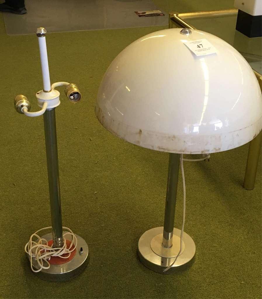 Pair Of Metal Lamps