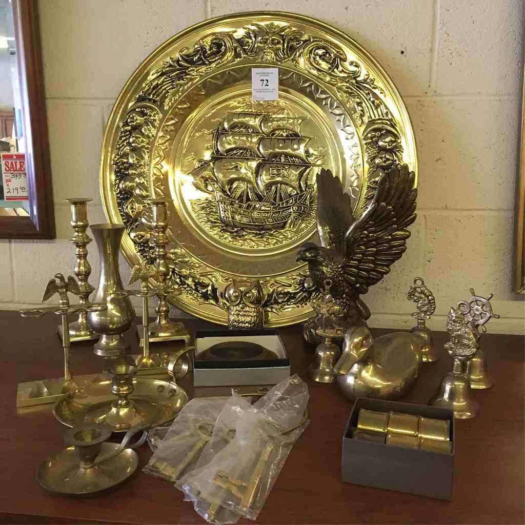 Large Assortment Of Brass Decoratives