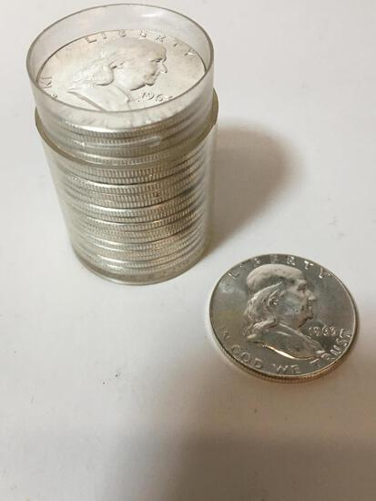 20 - 1963 FRANKLIN HALF DOLLARS