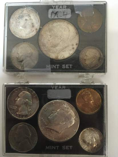 TWO 1964 AFTERMARKET MINT SETS