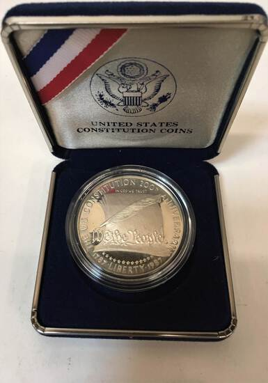 1987 US CONSTITUTION COMMEMORATIVE DOLLAR - PROOF
