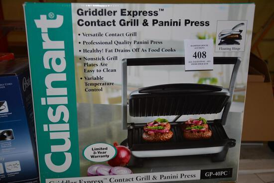CUISINART GRIDDLER ESPRESS GRILL & PANINI PRESS