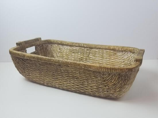 HANDWOVEN BASKET WITH HANDLES
