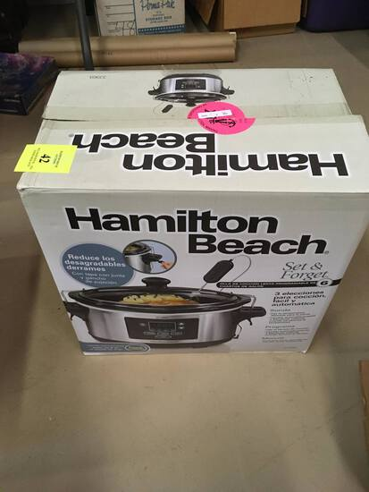 HAMILTON BEACH CROCK POT 6 QT