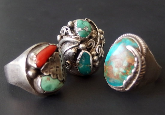 VINTAGE NAVAJO STERLING RINGS