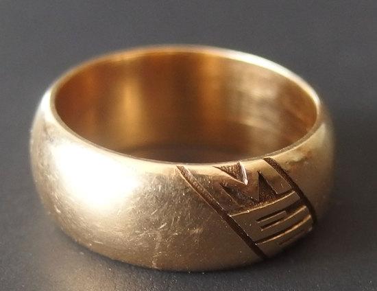 18KT GOLD 'MER' RING