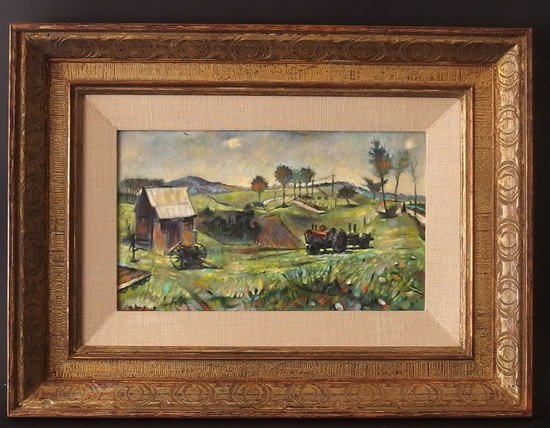 ROBERT MCDONALD GRAHAM SIGNED & DATED PAINTING