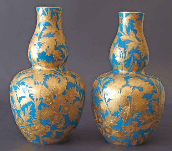 CROWN DERBY PORCELAIN VASES