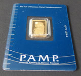 PAMP SUISSE 2 1/2 GRAM GOLD BAR