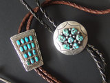 TWO (2) NAVAJO STERLING BOLOS