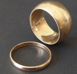 TWO (2) 14KT GOLD RINGS