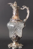 AUSTRO-HUNGARIAN SILVER & CRYSTAL EWER