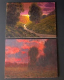 TWO (2) MAX COLE TONELIST OIL PAINTINGS