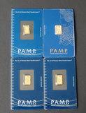 4 PAMP SUISSE 1 GRAM GOLD BARS