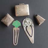 VINTAGE STERLING PILL BOXES & MONEY CLIPS