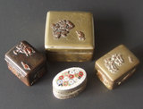 ANTIQUE STAMP BOXES & PILLBOXES
