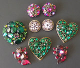 COLLECTION VINTAGE COSTUME JEWELRY