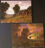 TWO (2) MAX COLE TONELIST PAINTINGS