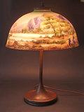 HANDEL REVERSED PAINTED LAMP