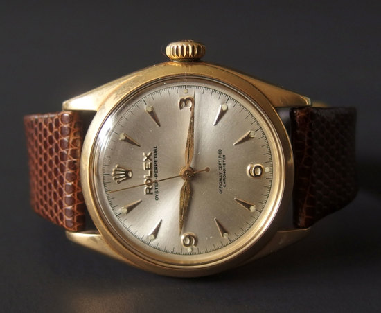 VINTAGE 14KT ROLEX OYSTER PERPETUAL GENT'S WATCH