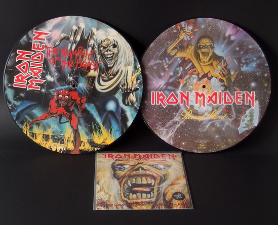IRON MAIDEN PICTURE DISC RECORDS