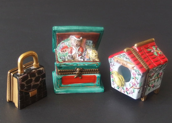LIMOGES FIGURAL WHIMSY BOXES
